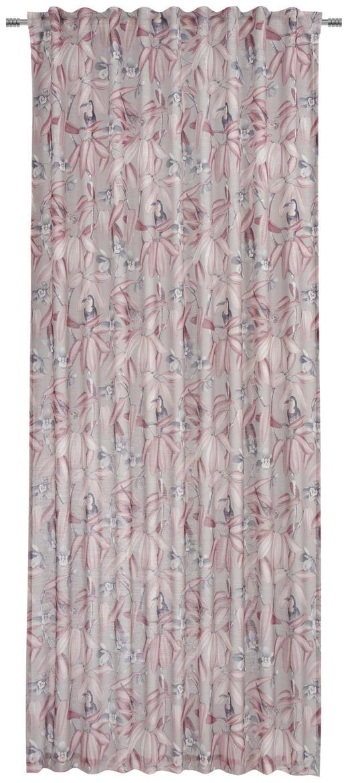 KOMBIVORHANG  transparent  140/245 cm - Taupe/Rosa, Basics, Textil (140/245cm) - Esposa
