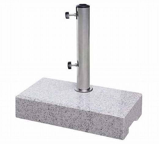 SONNENSCHIRMSTÄNDER Granit Beige, Grau - Beige/Grau, Basics, Stein/Metall (45/10/22cm)