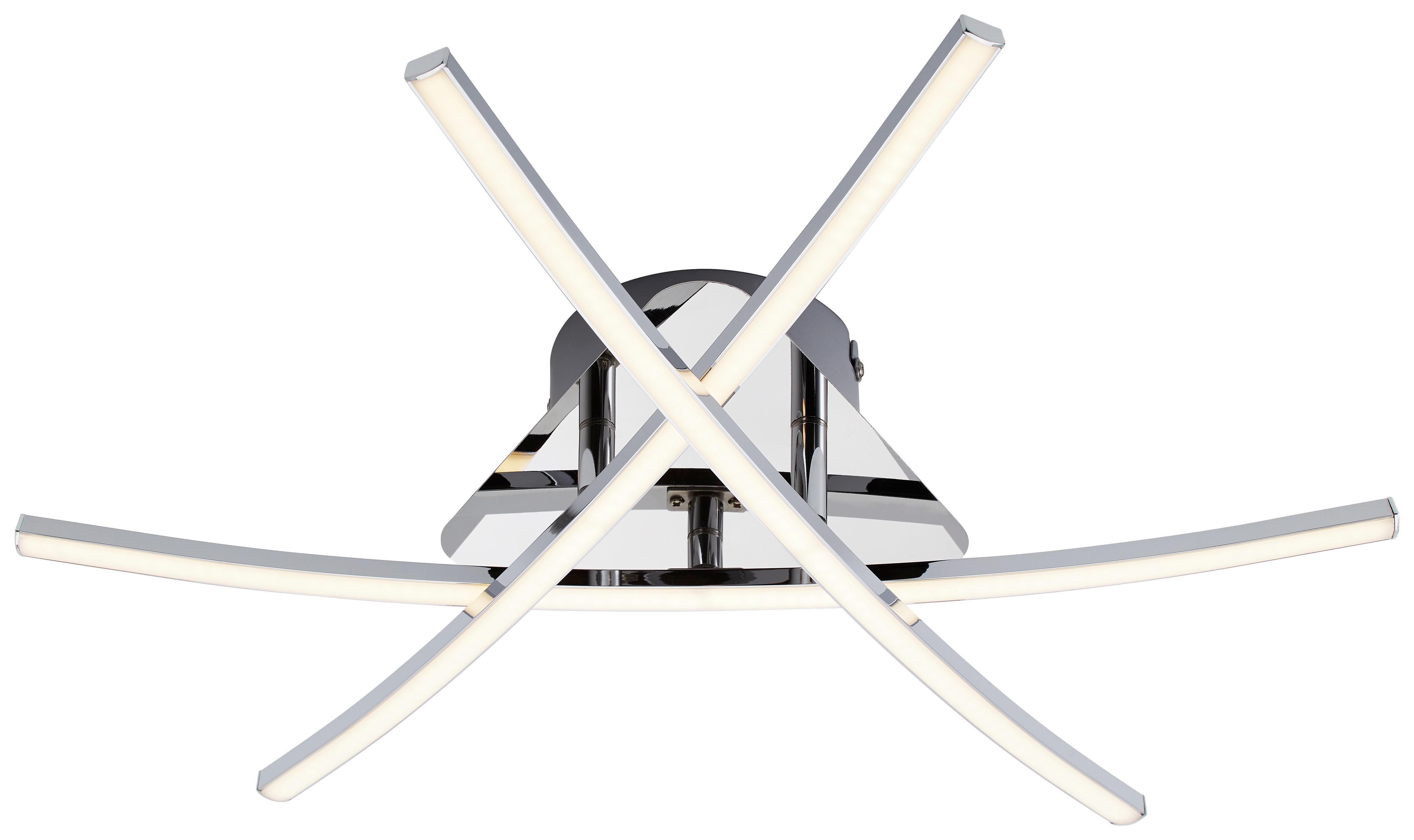 LED-DECKENLEUCHTE - Chromfarben, Design, Metall - NOVEL