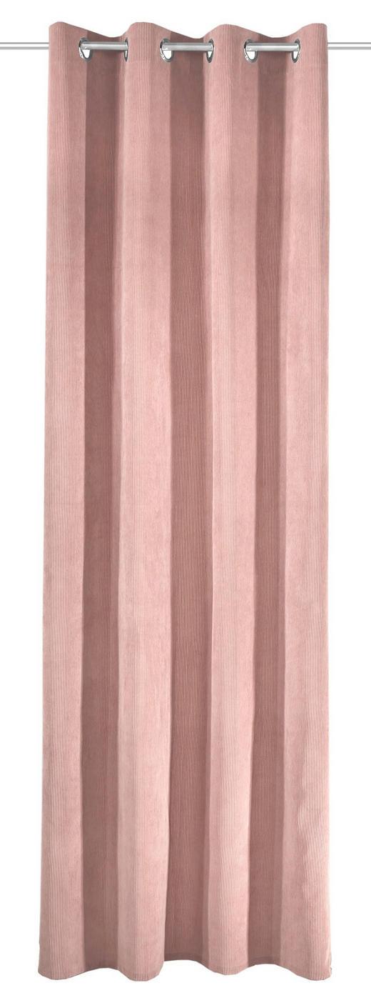 ÖSENSCHAL  Verdunkelung - Hellrosa, Textil (135/245cm)