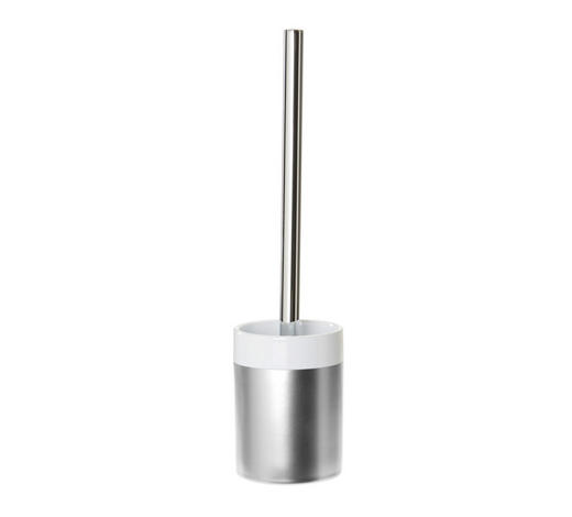 GARNITURA TOALETNE ČETKE - tamno siva/antracit, Basics, metal/keramika (9,1/36cm) - Celina