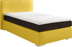 BOXSPRINGBETT 120/200 cm  in Braun, Gelb - Gelb/Alufarben, KONVENTIONELL, Kunststoff/Textil (120/200cm) - Esposa