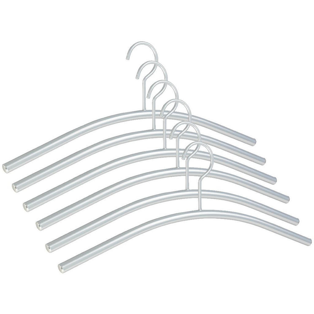 XXXLutz Kleiderbügelset 43 cm metall alufarben