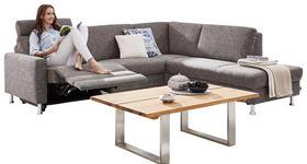 WOHNLANDSCHAFT Webstoff Rücken echt - Graphitfarben/Alufarben, Design, Textil (262/220cm) - DIETER KNOLL