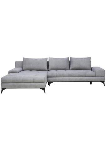 SJEDEĆA GARNITURA - siva/crna, Design, tekstil/metal (212/315cm) - Carryhome
