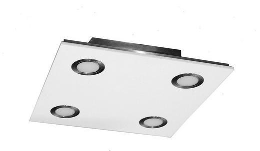 LED-DECKENLEUCHTE - Silberfarben, Design, Kunststoff/Metall (35/35/7,8cm)