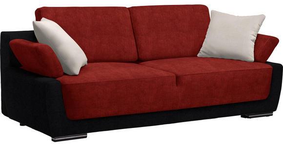 SCHLAFSOFA in Textil Hellgrau, Rot, Schwarz - Chromfarben/Rot, Design, Holz/Textil (214/83/95cm) - Venda