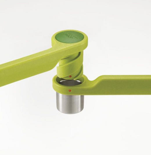 PREŠA ZA ČEŠNJAK - zelena, Konvencionalno, metal/plastika (12,5/22/5.8cm)