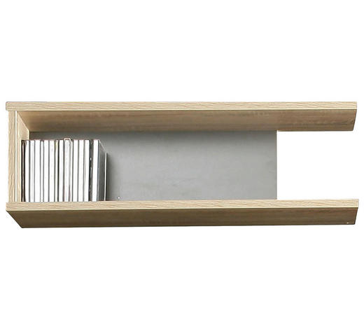 REGÁL NÁSTĚNNÝ, antracitová, barvy dubu - barvy dubu/antracitová, Design, kompozitní dřevo (65/19,4/24cm) - Carryhome
