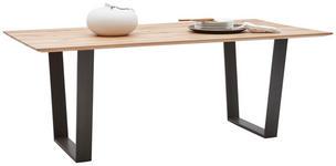 ESSTISCH in Holz, Metall 200/100/76 cm  - Buchefarben/Schwarz, Design, Holz/Metall (200/100/76cm) - Valnatura