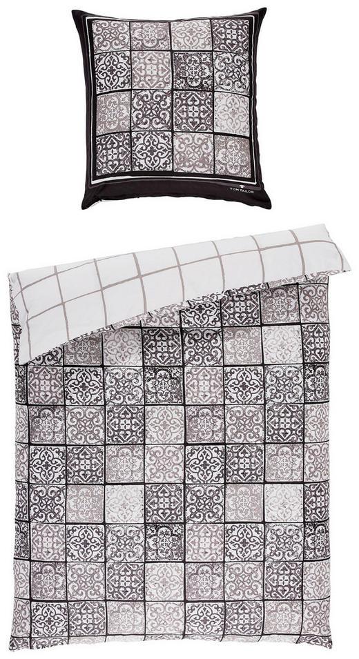 BETTWÄSCHE Satin Braun, Weiß 135/200 cm - Braun/Weiß, Basics, Textil (135/200cm) - Tom Tailor