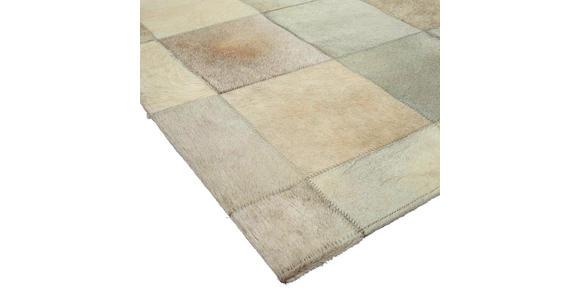 LEDERTEPPICH  80/150 cm  Hellgrau - Hellgrau, Basics, Leder/Textil (80/150cm) - Linea Natura