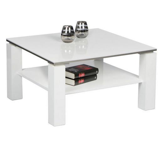 COUCHTISCH in Holzwerkstoff 75/75/41 cm - Weiß, Design, Holzwerkstoff (75/75/41cm) - Carryhome