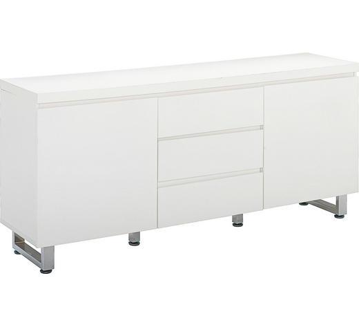KOMMODE 167/74/42 cm  - Chromfarben/Weiß, Design, Holz/Holzwerkstoff (167/74/42cm)