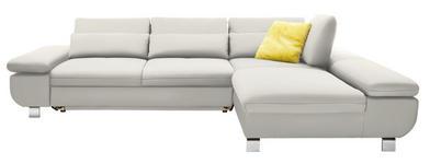 WOHNLANDSCHAFT in Textil Beige, Weiß  - Chromfarben/Beige, Design, Textil/Metall (310/203cm) - Venda