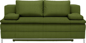 BOXSPRINGSOFA in Textil Grün  - Chromfarben/Grün, Design, Textil/Metall (200/93/107cm) - Novel