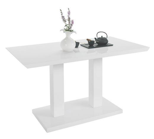 JÍDELNÍ STŮL, bílá - bílá, Design, kompozitní dřevo (140/80/75cm) - Carryhome