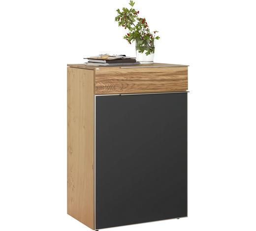BOTNÍK, šedá, barvy dubu, starodřevo, dub - šedá/barvy stříbra, Natur, kov/dřevo (64/98/42,5cm) - Voglauer