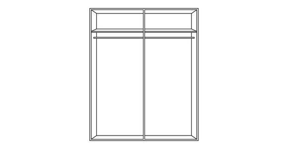 SCHWEBETÜRENSCHRANK in Weiß - Chromfarben/Weiß, Design, Glas/Holzwerkstoff (200/216/68cm) - Hom`in