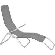 KIPPLIEGE Stahl pulverbeschichtet Hellbraun, Silberfarben - Hellbraun/Silberfarben, Design, Textil/Metall (58/96/145cm) - XORA