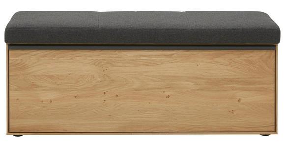 GARDEROBENBANK 118/50/41 cm - Eichefarben/Anthrazit, Natur, Holz/Kunststoff (118/50/41cm) - Valnatura