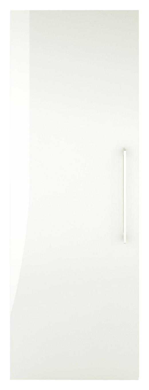 DREHTÜRENSCHRANK 1-türig Weiß - Chromfarben/Weiß, Design, Holzwerkstoff/Metall (50/144/57cm) - Carryhome