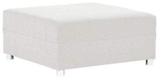 HOCKER Webstoff Beige - Beige/Alufarben, Design, Kunststoff/Textil (93/42/93cm) - Carryhome