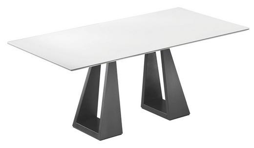 ESSTISCH rechteckig Schwarz, Weiß - Schwarz/Weiß, Design, Glas/Holz (190(242)/95/74cm)