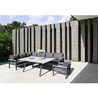 LOUNGE GARNITURA - siva/antracit, Design, metal/tekstil (259/199cm) - Amatio