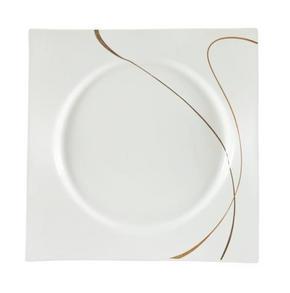 MATTALLRIK - vit/brun, Design, keramik (26,5cm) - Ritzenhoff Breker