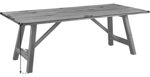 ESSTISCH in Holz 200/100/75 cm - Eichefarben, Design, Holz (200/100/75cm) - Valnatura