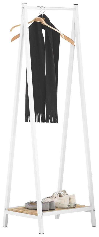 GARDEROBENSTÄNDER Kieferfarben, Weiß - Weiß/Kieferfarben, Design, Holz/Metall (53/162/42cm)