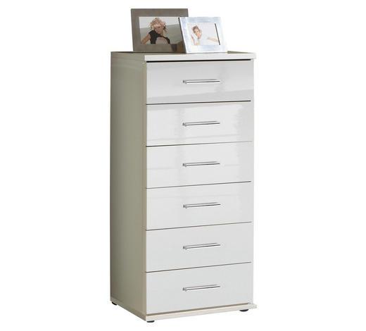 KOMMODE 46/103/40 cm - Chromfarben/Weiß, Design, Holzwerkstoff/Kunststoff (46/103/40cm) - Xora