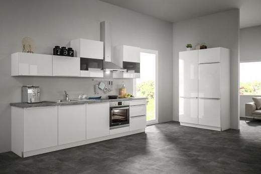 Eckküche ohne E-Geräte Soft-Close-System, Spüle - Weiß, Design (120+300cm) - SetOne by Musterring