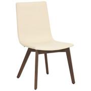 STUHL in Holz, Leder Creme, Eichefarben - Eichefarben/Creme, Design, Leder/Holz (49/90/60cm) - Hülsta