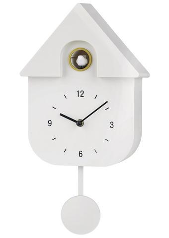 WANDUHR 40/23/9 cm   - Weiß, Design, Kunststoff (40/23/9cm) - Boxxx
