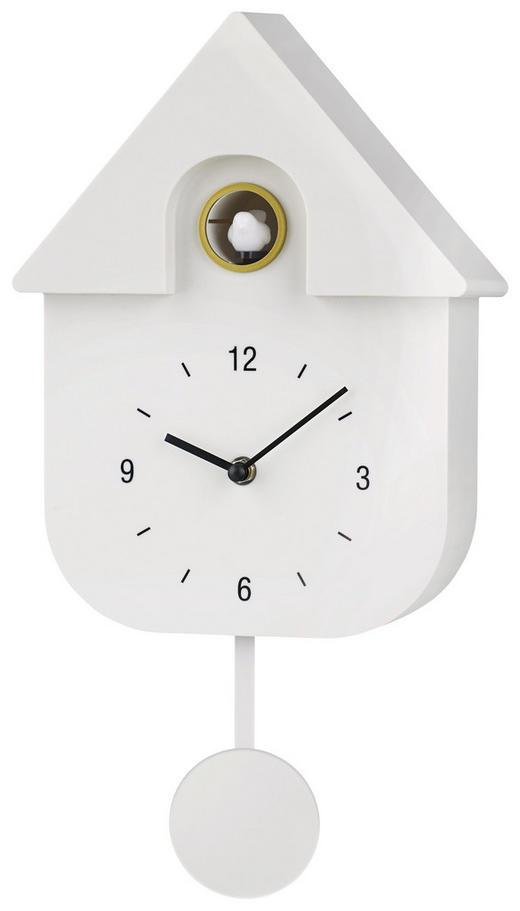 WANDUHR - Weiß, Design, Kunststoff (40/23/9cm) - Boxxx