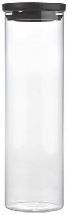 POSUDA ZA ZALIHE - prozirno/crna, Konvencionalno, staklo/plastika (9,6/32cm) - Homeware