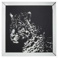 Tiere BILD - Silberfarben/Schwarz, Design, Glas (80/80/4,5cm) - Xora