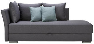 LIEGE in Textil Anthrazit, Mintgrün - Chromfarben/Anthrazit, Design, Kunststoff/Textil (220/93/100cm) - Xora