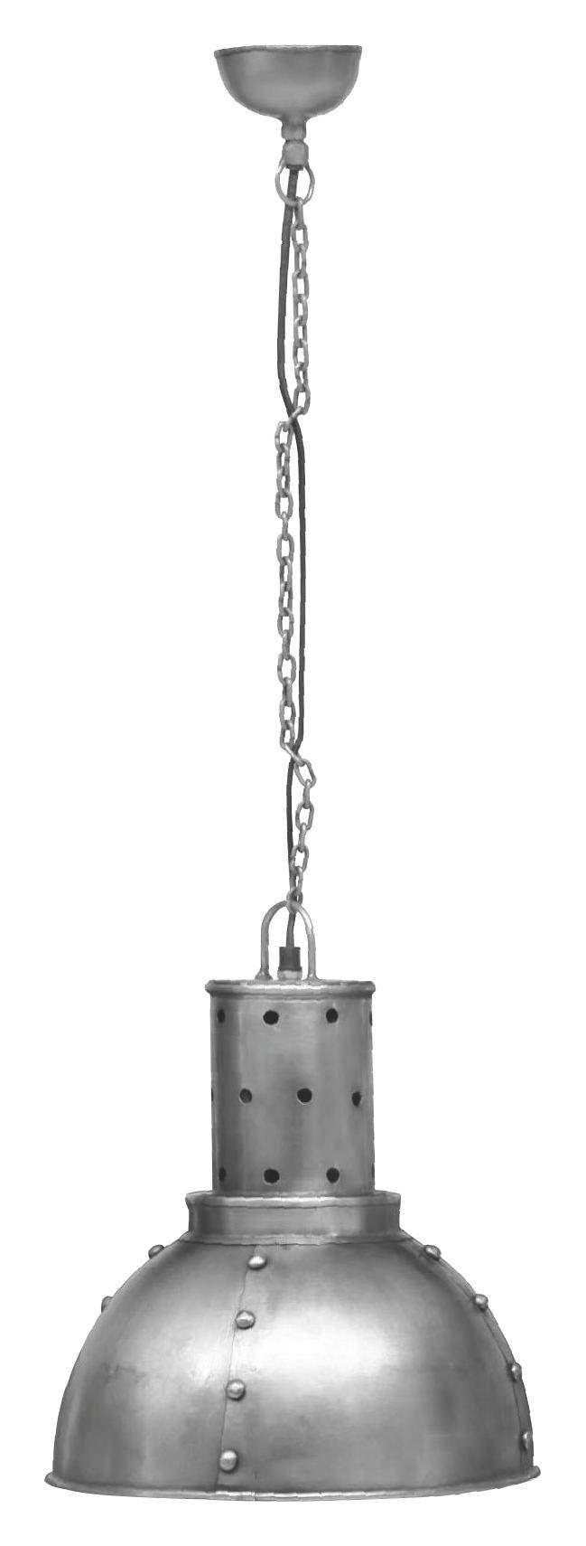 HÄNGELEUCHTE - Zinkfarben, Design, Metall (32/32/38cm)