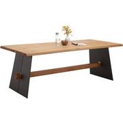 ESSTISCH in Holz, Metall 220/100/77 cm - Eichefarben/Anthrazit, Natur, Holz/Metall (220/100/77cm) - Bert Plantagie