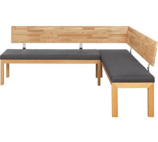 ECKBANK 208/171 cm  in Anthrazit, Eichefarben - Eichefarben/Anthrazit, Natur, Holz/Textil (208/171cm) - Voleo