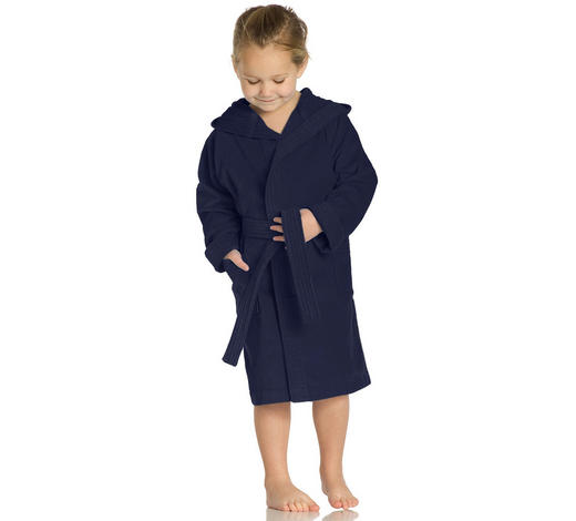 KINDERBADEMANTEL - Blau, Basics, Textil (116null) - Vossen