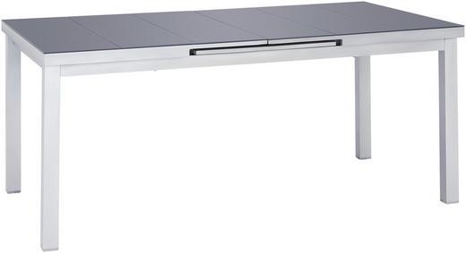 Gartentisch Glas Metall Dunkelgrau Silberfarben Online Kaufen