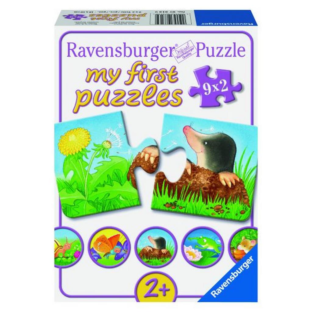 Puzzleset mit 9 niedlichen 2-Teile-Puzzles von Ravensburger
