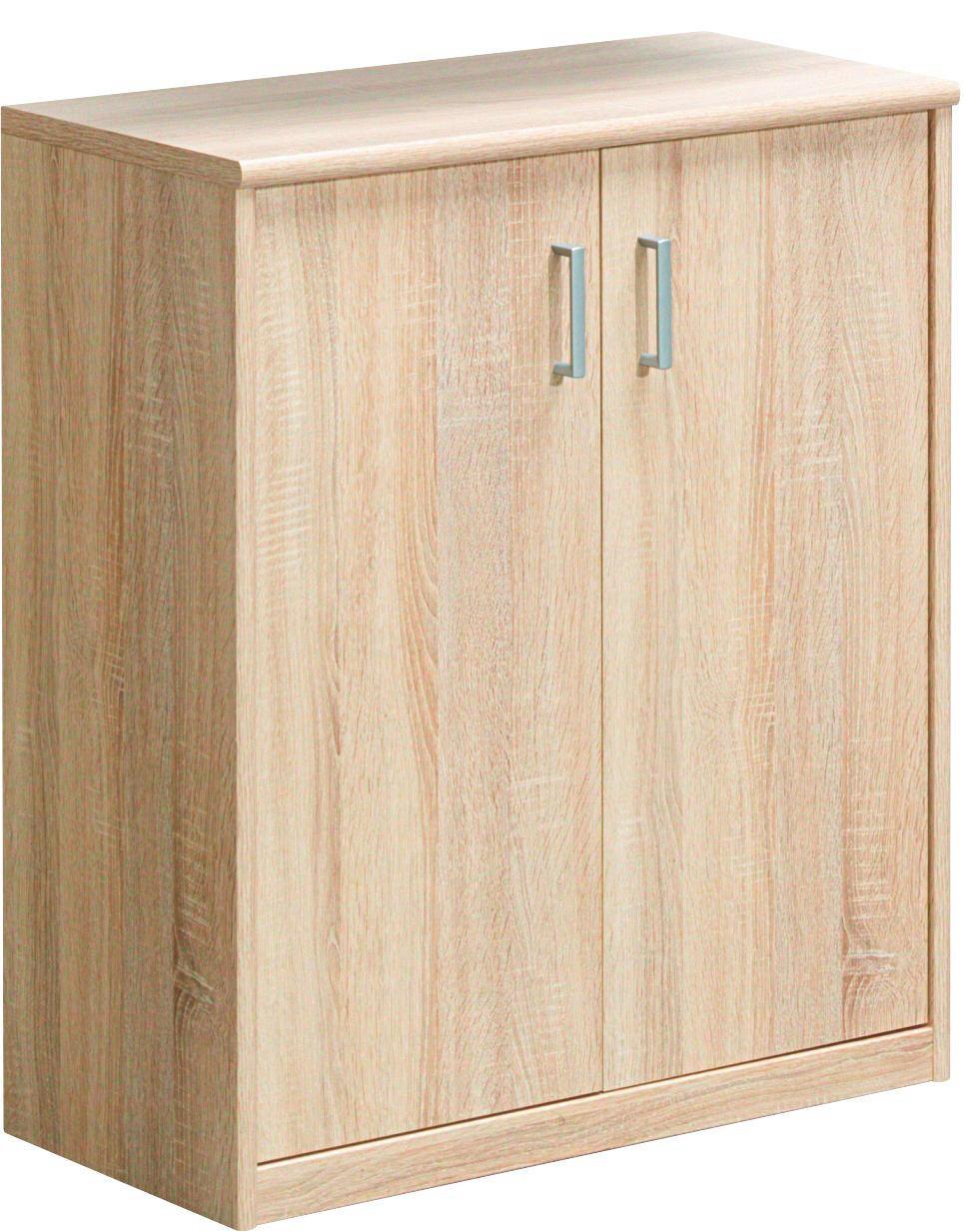KOMODA - boje hrasta/boje srebra, Konvencionalno, drvni materijal/plastika (72/84/36cm) - CS SCHMAL