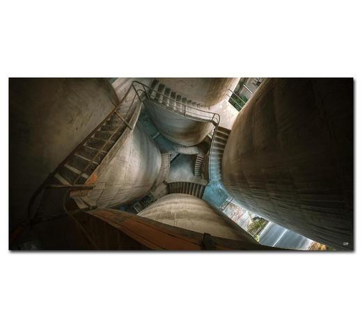 """Architektur BILD """"VERTIGO IS OVERRATED""""  - Multicolor, Basics, Holzwerkstoff/Kunststoff (150/75cm) - Wiedemann"""