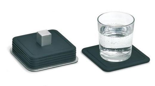 UNTERSETZER - Schwarz, Basics, Kunststoff/Metall (9,5/9,5cm) - Blomus