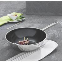 WOKPFANNE 28 cm Keramikbeschichtung - Edelstahlfarben, Basics, Metall (28cm) - SILIT